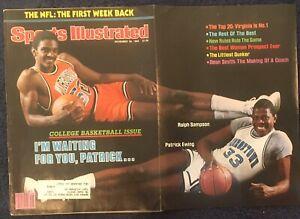 11.29.1982 Sports Illustrated RALPH SAMPSON Virginia & PATRICK EWING Georgetown