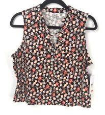 Guess Women's Cropped Floral Tank Top Size XL New With Tags