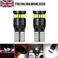 194 LED Light Bulb 6000K White Super Bright 168 2825 W5W T10 Wedge CANBUS Error