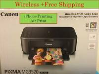Canon Pixma MG3520/3620 All In One  wireless Printer-Airprint-returned-discount