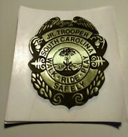 Junior Deputy Florence County Sheriff's Office S.C. Novelty Badge Sticker Used