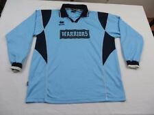 Mens Blue Wigan Warriors Long Sleeve Soccer Shirt Sz Large Athletic Jersey Polo