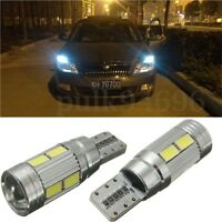 2Pc CANBUS ERROR FREE T10 501 194 W5W 5630 LED 10 SMD SIDE WEDGE LIGHT LAMP BULB