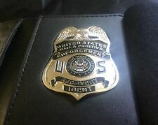 Fugitive Recovery   CUSTOM MADE LEATHER WALLET &   Badge