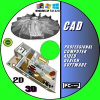 2D & 3D MODELING PROFESSIONAL CAD COMPUTER AIDED DESIGN MULTI FORMAT SUPPORT CD