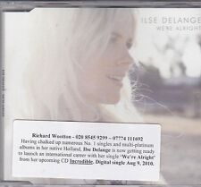 ILSE DELANGE WE'RE ALRIGHT RARE 1 TRACK PROMO CD [INCREDIBLE]