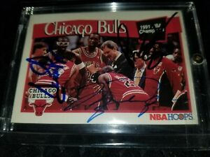 Michael Jordan Scottie Pippen Jackson - Triple Signature Signed Auto card w/ COA