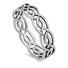Sterling Silver Woman's Celtic Infinity Band Ring 925 Wholesale Sizes 4-14 NEW