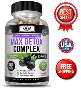 Max Detox - Colon Cleanse, Detox Toxins, Energy boost, Weight loss Capsules