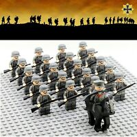 21pcs WWII Germany US British Japan Army Soldiers Minifigures Military Fit Lego
