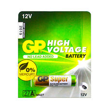 1 x GP 27A Alkaline Super battery 12V MN27 A27 GP27A E27A EL812 L828 Alarms