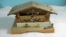 Vintage German, Cottage Shaped Wood Music Box