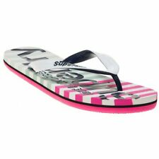 1a60b1778eaf22 Genuine Superdry Women s Eva Stripe Flip Flops Multicolore (optic White  Miami
