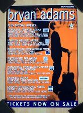 BRYAN ADAMS - UK TOUR POSTER (Very Good+ cond.)