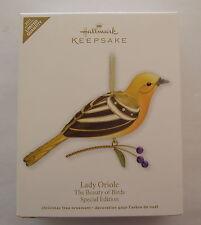 Hallmark 2011 Beauty of Birds Special Edition Lady Oriole Christmas Ornament