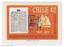 Chile 1977 #917 Sesquicentenario de El Mercurio Valparaiso MNH