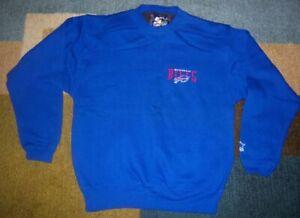 NEW Vintage STITCHED 1990s Authentic BUFFALO BILLS Blue SWEATSHIRT S jersey l