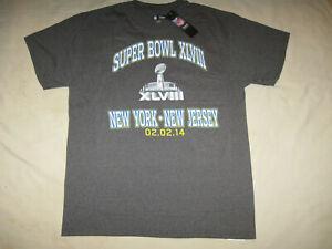 Super Bowl XLVIII T Shirt New W/Tags Men's Large NFL NYC NJ Seattle Denver 2014