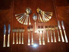 Golden St. Moritz Barclay Geneve Gold-plated Dinner Flatware Set, 36 Pieces