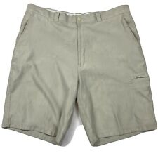 "PGA Tour Men's Size 38 Waist Khaki Golf Shorts Lightweight Quick Dry 9"" Inseam"