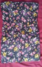ZARA TRF Womens sz 12-14 dark blue floral strapless peplum dress thigh length