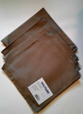 """4 Pc Taupe Cloth Napkins 17"""" x 17"""" by Solitaire 100% Cotton"""