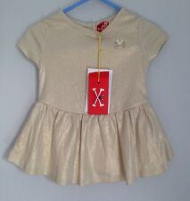 No Added Sugar Baby Dress Gold Sparkly BNWT Size 0-3 Months Bustle Back