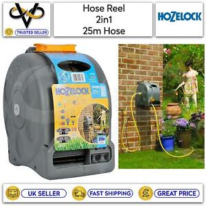 Hozelock Compact 2 In 1 Hose Reel With 25M Hose Free Standing/Wall Mounted