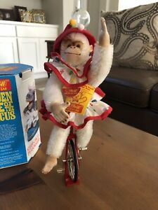 Steiff Golden Age of Circus chimp on a unicycle