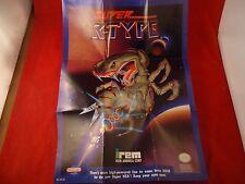 Super R-Type Super Nintendo SNES Foldable Promo Poster Insert ONLY Rtype