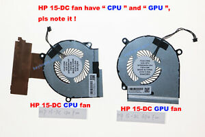 "New For HP 15-DC 15-DC000 15-DC1060TX 15-DC1061TX Laptop ""CPU+GPU"" Fan A pair"