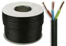 3 core 15 amp rubber round black electrical mains cable 1.5mm sold by the meter