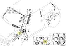 BMW Mini R50 R53 R52 Exterior Trim Grill Plastic nut 07130702715
