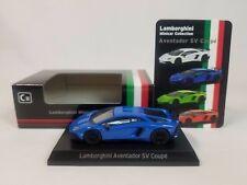 1:64 Kyosho Lamborghini Minicar Collection Aventador LP750-4 SuperVeloce SV Blue