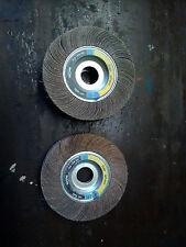 lot ponçage flexovit 2 roues à lamelles 165 mm / 25 mm ép pour touret grain 120