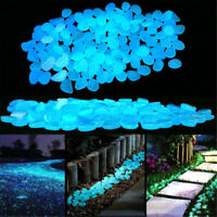 100PCS Luminous Pebble Stones Pathway Stones Glow in the Dark Garden Decoration~
