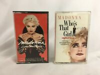 "Lot of 2 Madonna Cassette Tapes ""Who's That Girl"" ""You Can Dance"""