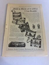 1926 MAGAZINE AD #A3-107 - Ciné-Kodak Camera