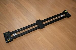 Camera slider, motorised, programmable, totally quiet, double rail & 1.4m long