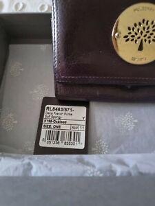 Mulberry oxblood purse wallet