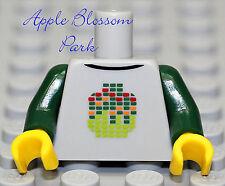 NEW Lego Minifig Dark Green w/GRAY TORSO - Boy Girl DJ w/Head Sweat Shirt Jacket