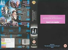 A.I. Artificial Intelligence Video Promo Sample Sleeve/Cover #11125