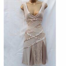 Adorable Karen Millen Cream Lace Mesh Wedding 20's Gatsby Fancy Summer Dress 10