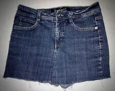 Gloria Vanderbilt BLUE Cotton Stretch Denim Mid-rise Cut-off SHORTS ~ 8