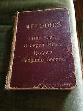 80 mélodies Saint-Saëns Bizet Reyer Godard score partition recueil