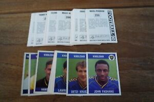 Panini Football 90 Stickers - nos 251-509 - VGC! Pick The Stickers You Need!