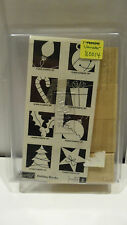 "Stampin Up! ""Holiday Blocks"" (8) 2005 Stamp Set Ornament Christmas"