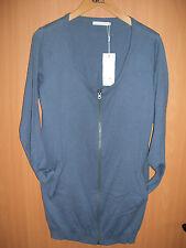 Strickjacke Cardigan ONLY  blau / grau, mit Känguruhtaschen Größe XL neu