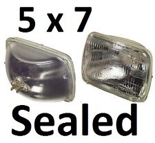 5x7 6x8 Sealed Beam 12V Hi/Lo Headlights Lights 65/55w