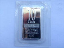 10 Gram Silver Bullion Bar Northwest Territorial Mint Series LCG